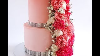 Tiered Cascading Floral Cake Tutorial- Rosies Dessert Spot