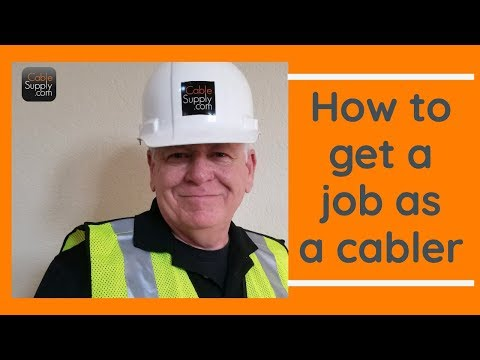 How to get a Computer Network Cabling Job *** without Experience ...