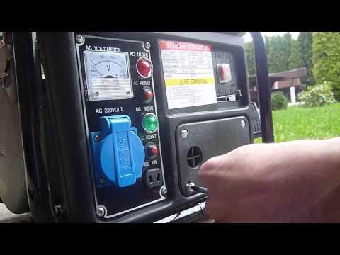 90 Euro Krafthertz Notstrom Steckdose am Baggersee Stromgenerator 850 Watt  mobil leicht