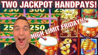 $5000 HIGH LIMIT FRIDAY 🎉 🎰 💵 | MIGHTY CASH JACKPOT!! 💰🍀 | DANCING DRUMS HANDPAY!! 🕺 🥁 👑