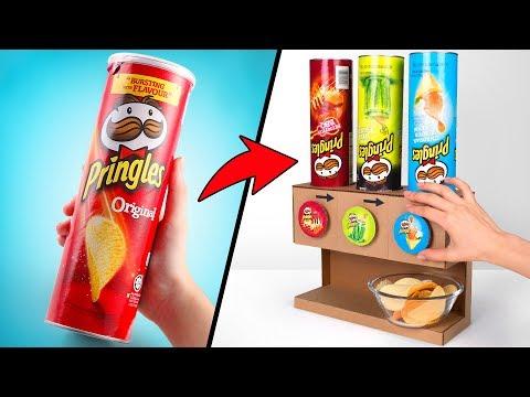 Distributore di Pringles con ben 3 Gusti | Progetto fai-da-te con il cartone