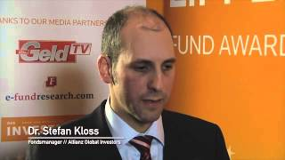 Lipper Fund Awards Deutschland 2013 | Gewinner: Allianz Global Investors, Dr. Stefan Kloss