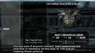 SKYRIM: How to break the game. 4m Damage Bow, 100k+ Armour, No Mods, No Hacks [Guide]
