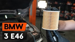 How to replaceoil filter and engine oilon BMW 3 (E46) [TUTORIAL AUTODOC]