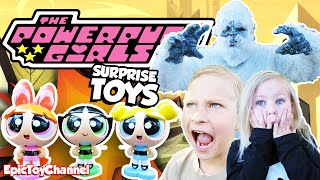 POWER PUFF GIRLS Fight Snow Monster IN REAL LIFE, Powerpuff Girls Toys, Power Wheel Epic Toy Channel