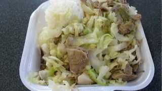 preview picture of video 'Kalua Pork & Cabbage @ L&L Drive-Inn Waipio Oahu Hawaii'