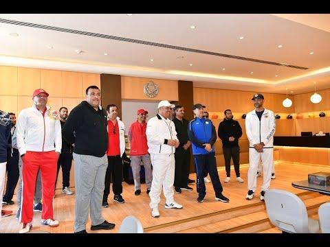 معالي وزير الداخلية ينيب سعادة رئيس الأمن العام لحضور جانب من فعاليات يوم البحرين الرياضي 2019/2/12