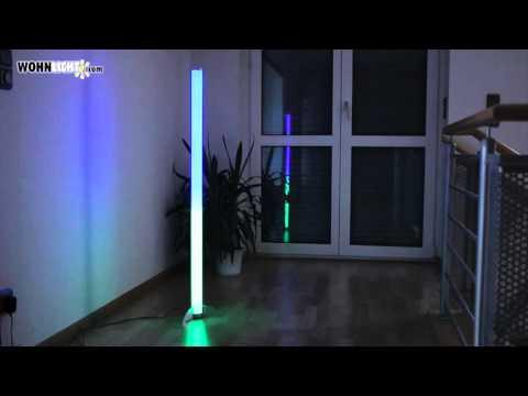 Farbwechselnde LED-Stehleuchte - Wohnlicht.com