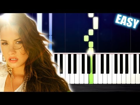 Demi Lovato - Skyscraper - EASY Piano Tutorial by PlutaX