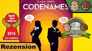 Codenames (Spiel des Jahres 2016) - Brettspiel - Review