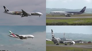 preview picture of video 'Activity at Auckland Airport (777's, A380, 787, A340, A320's, 737)'
