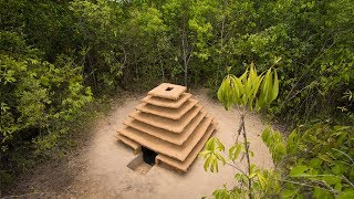 Build The Most Epic Underground Temple House in The Jungle by Ancient Skill