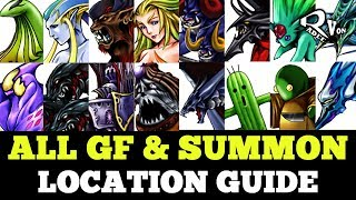 All Guardian Force (GF) and Summon Location guide - Final Fantasy VIII