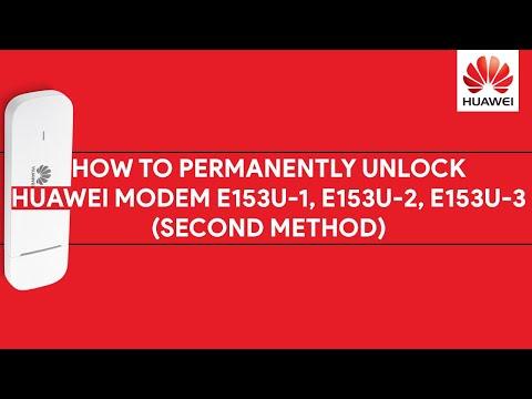 How To Permanently Unlock Huawei Modem E153U-1, E153U-2, E153U-3 (Second Method) - [romshillzz]