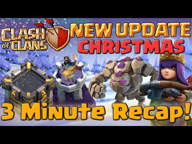 Clash Of Clans Christmas Update 2016 3 Minute Recap New Troop Levels In Coc  Senzomusiccom