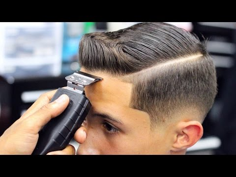 HAIRCUT TUTORIAL   COMBOVER   DROP FADE   BLOW DRIED AND STYLE