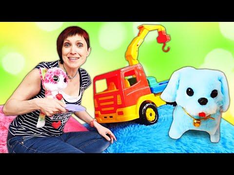 Маша Капуки Кануки кормит котенка и щенка. Развивающее видео для детей. видео