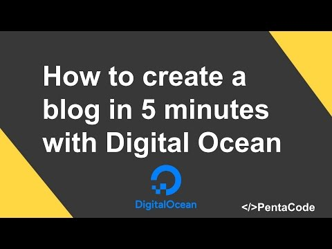 How to create a blog in 5 minutes with Digital Ocean