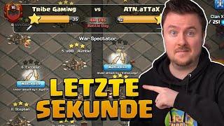 Letzten Sekunden LIVE in der Clankriegsliga - Tribe Gaming und ATN.aTTaX | Clash of Clans deutsch