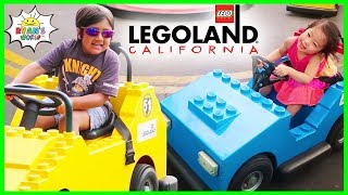 Legoland Amusement Theme Park Rides for Kids with Ryan's World!!!