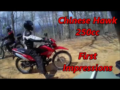 First Impressions, Chinese Hawk 250 Dual Sport Test Ride from The Three Amigos!