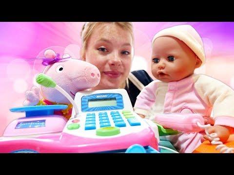 Spielspaß mit Puppen - Peppa Wutz und Baby Born - Neue Kleidung
