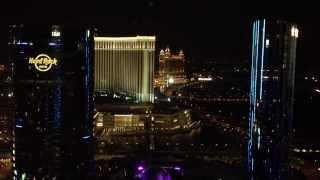 Macau Cotai Strip Night Scene Over Looking Hardrock Hotel, Venetian And Galaxay Casino