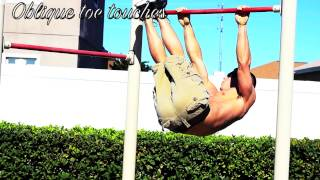 Ab routine on a pull up bar by Corey Hall