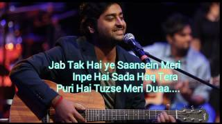 Musafir Arijit Singh Version Karaoke  With Lyrics