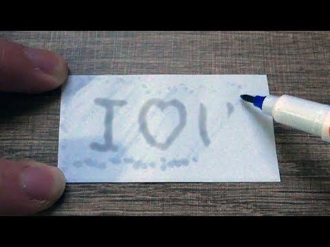【DIY】隱形墨水筆!不用檸檬汁也不用加熱!隨時隨地寫秘密、向情人表白、作隱形記號!Invisible Ink