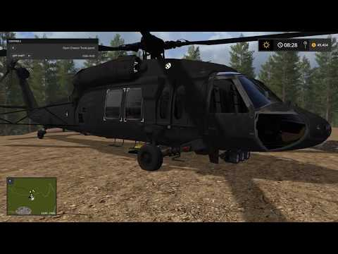 Farming simulator 17 Transport helicopter from lambo mods