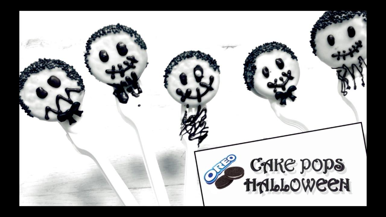Cake Pops Halloween | Cake Pops de Oreo Fáciles de Hacer | Receta Halloween - chefdemicasa.com
