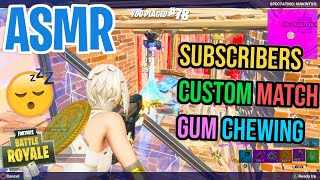 ASMR Gaming 😴 Fortnite Crazy Subscriber Custom Match! Relaxing Gum Chewing 🎧🎮 Controller Sounds 💤