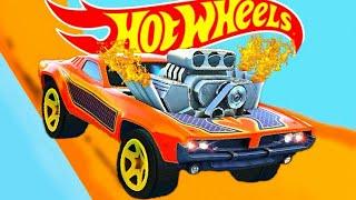 Крутые Тачки Хотвилс Оранжевая Спортивная Машина Мультики для Детей