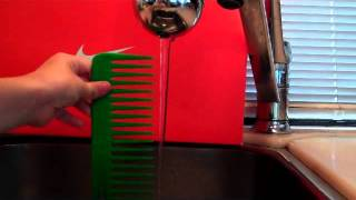 Bending Water with Static Electricity