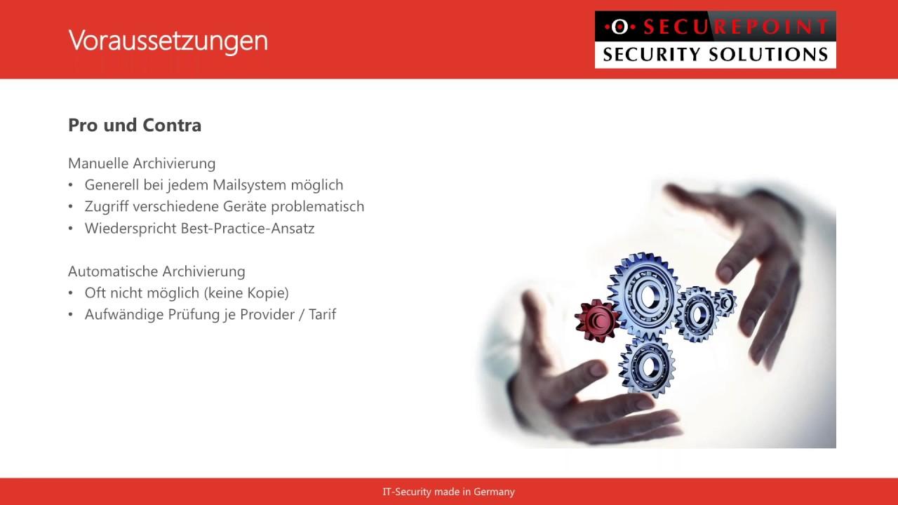 Securepoint UMA Mailarchivierung 1