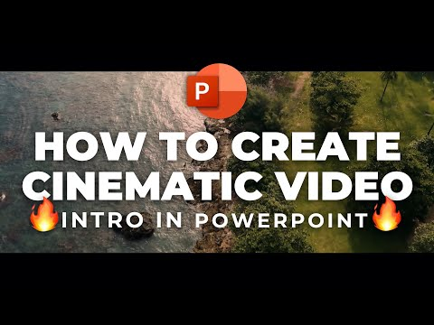 How to Make a Cinematic Video Intro 🔥in PowerPoint🔥