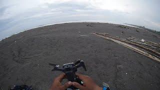 Drone MJX Bugs B7 Beraksi di Muara Sungai Pantai Pasir Puncu Keburuhan Purworejo