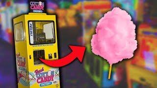 I FOUND A COTTON CANDY VENDING MACHINE!!