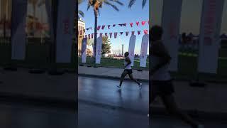 9 Eylül Yarı Maratonu bitiş anı