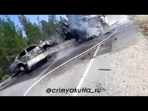 В сети появилось видео страшного ДТП в Якутии