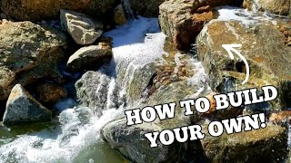 How To Build Your Own Backyard Waterfall And Koi Pond!