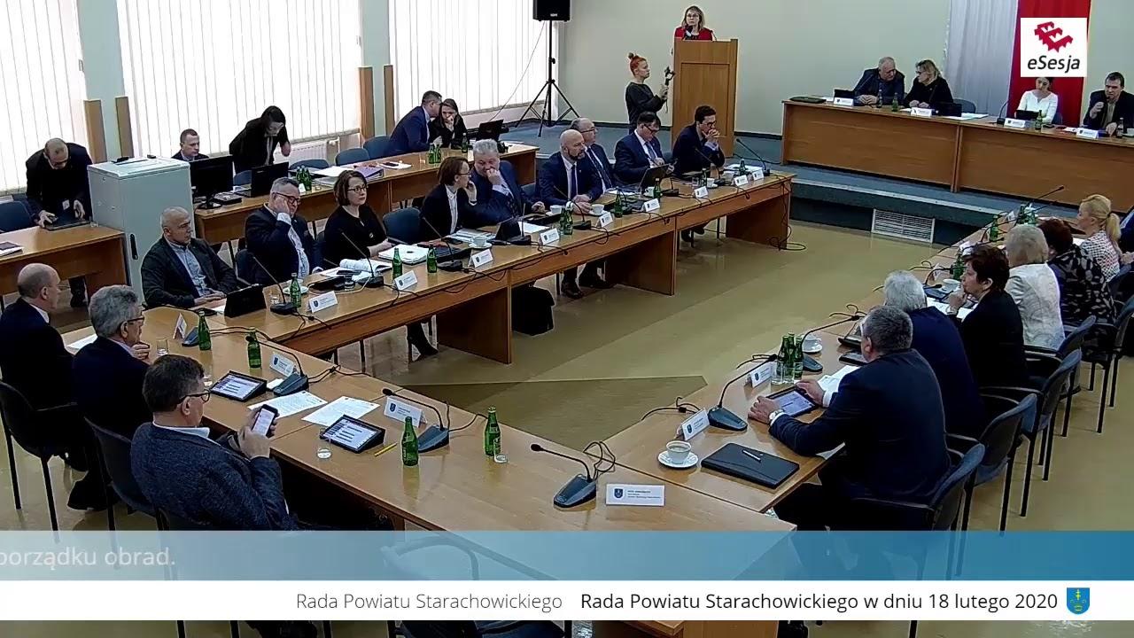 XVIII Sesja Rady Powiatu w Starachowicach 18.02.2020r. cz. I