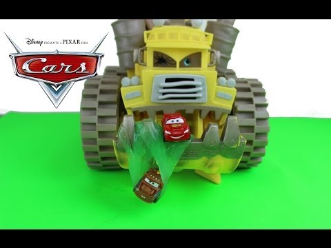 Disney Pixar Cars Lightning McQueen & Mater Get Slimed By Disney Cars Screaming Banshee