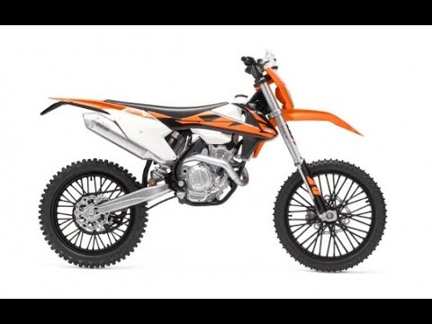 KTM 350 EXC-F on a Motocross Track