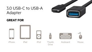 USB-C At A Glance: 3.0 USB-C to USB-A Adapter by Belkin