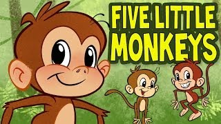 Five Little Monkeys Jumping on the Bed - Animated Nursery