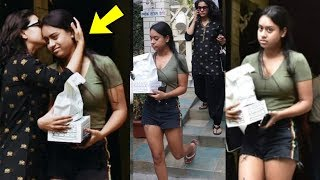 Nysa Devgan upset and angry with mom  Kajol in front of media |Shocking