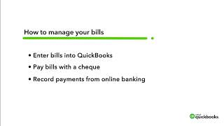 How to enter and pay bills