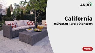 Videó: Keter Allibert California műrattan kerti bútor szett